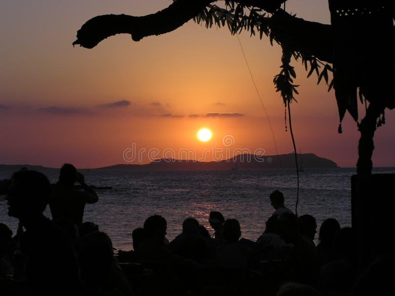 Por Do Sol De Ibiza Imagem de Stock