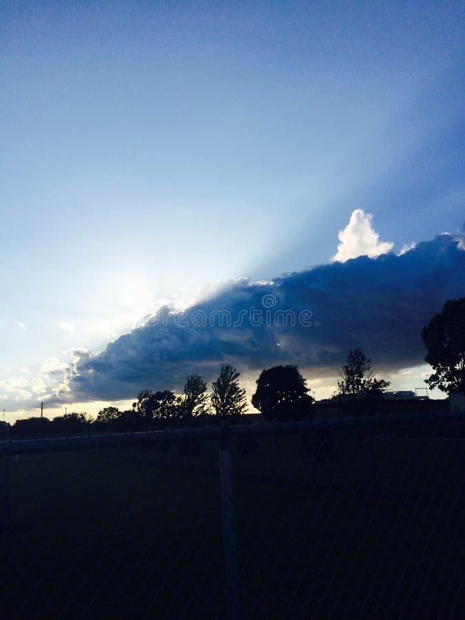 Por do sol de Iowa imagens de stock