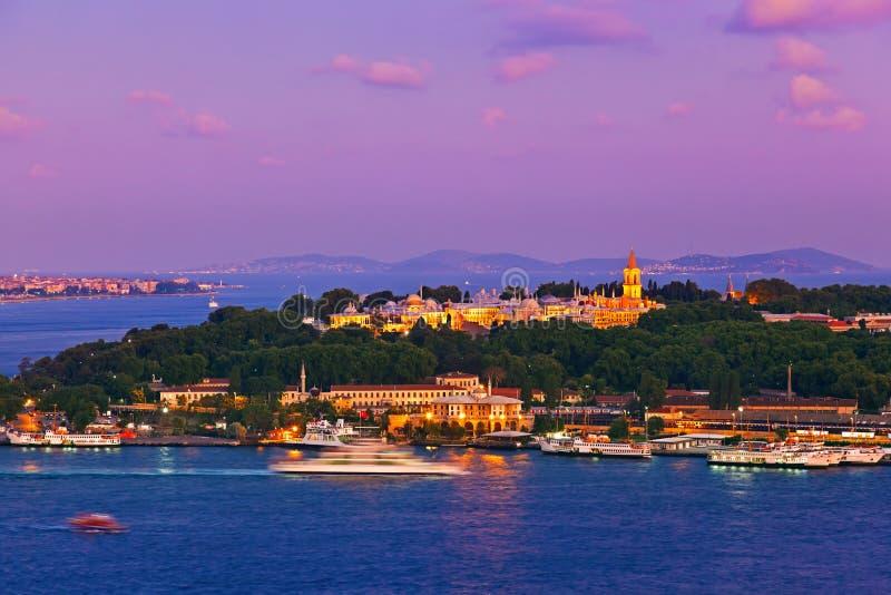 Por do sol de Istambul fotos de stock royalty free