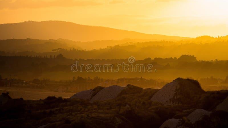 Por do sol de Itália fotografia de stock royalty free