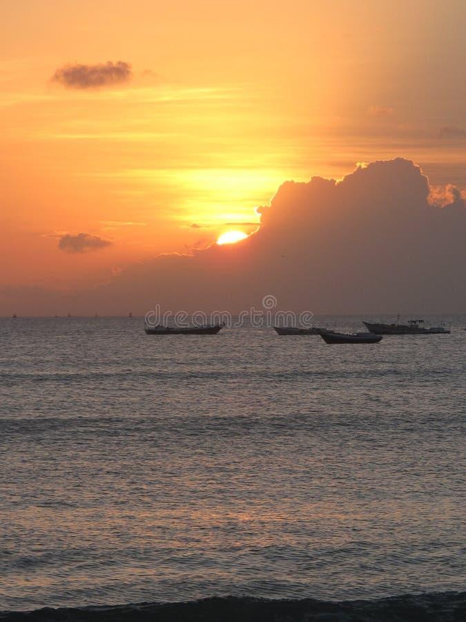 Por do sol de Jimbaran fotografia de stock royalty free