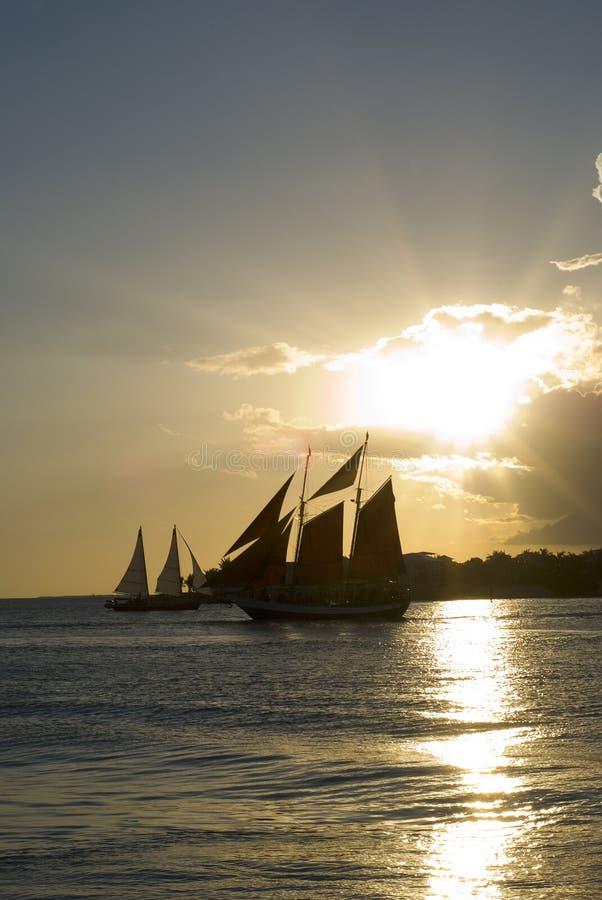 Por do sol de Key West imagens de stock