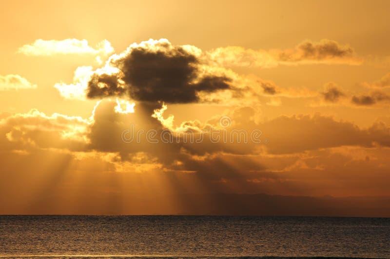 Por do sol de Madagáscar fotografia de stock royalty free
