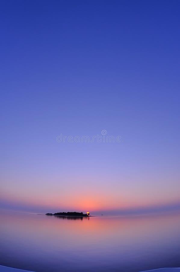 Por do sol de Maldivas fotos de stock royalty free