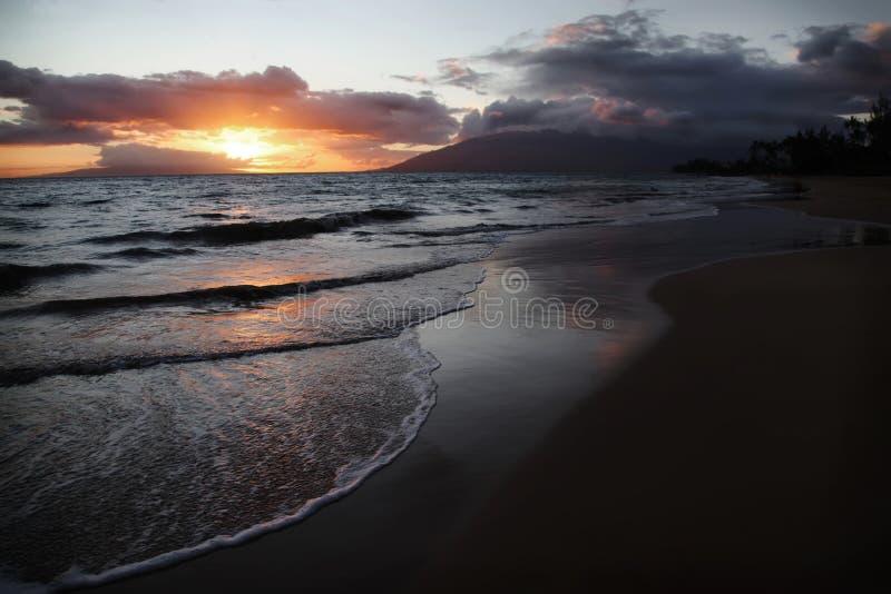 Por do sol de Maui fotos de stock