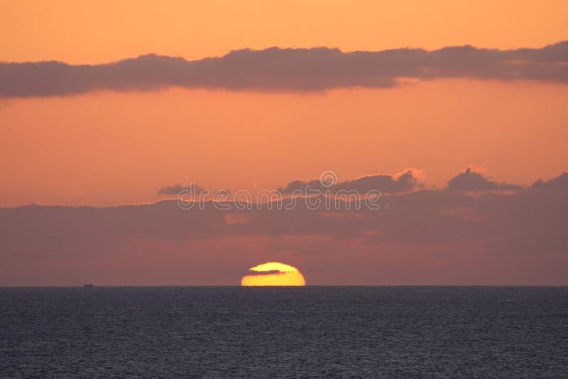 Por do sol de Maui foto de stock royalty free