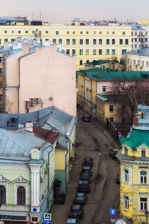 Por do sol de Moscou fotografia de stock