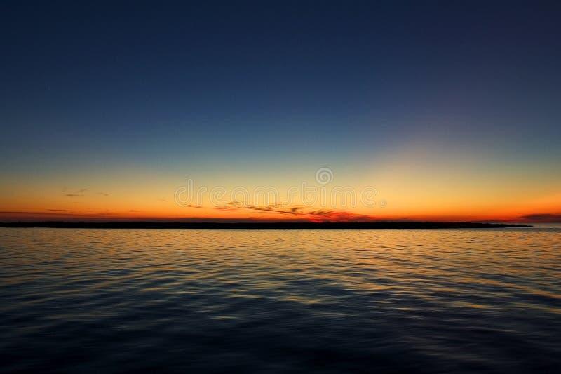 Por do sol de OBX fotos de stock