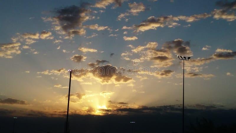 Por do sol de Oklahoma fotos de stock royalty free