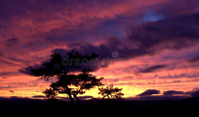 Por do sol de pedra do parque estadual da montanha fotografia de stock royalty free