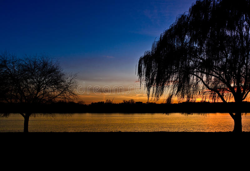 Por do sol de Potomac fotografia de stock royalty free