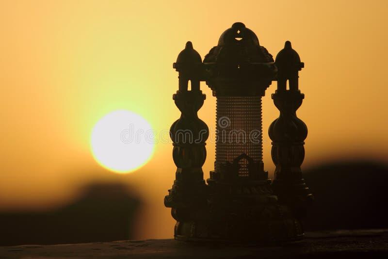 Por do sol de Ramadan Lantern fotografia de stock royalty free