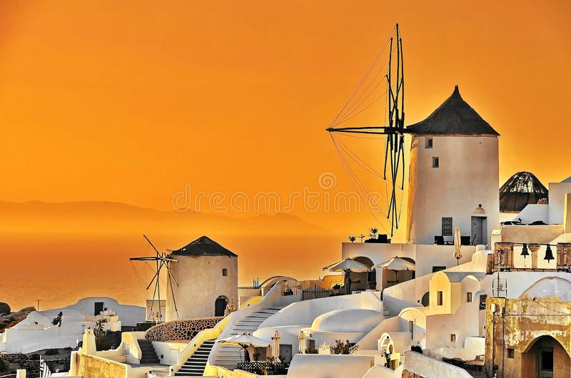 Por do sol de Santorini, Grécia
