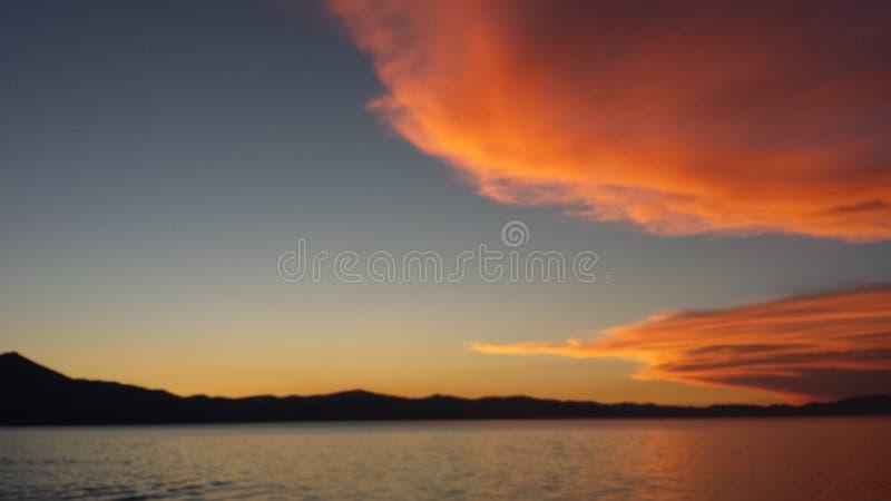 Por do sol de Tahoe imagem de stock
