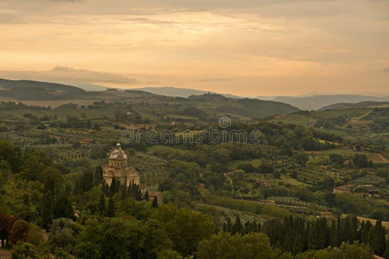 Por do sol de Tuscan foto de stock royalty free