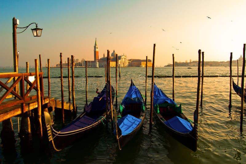 Por do sol de Veneza imagem de stock