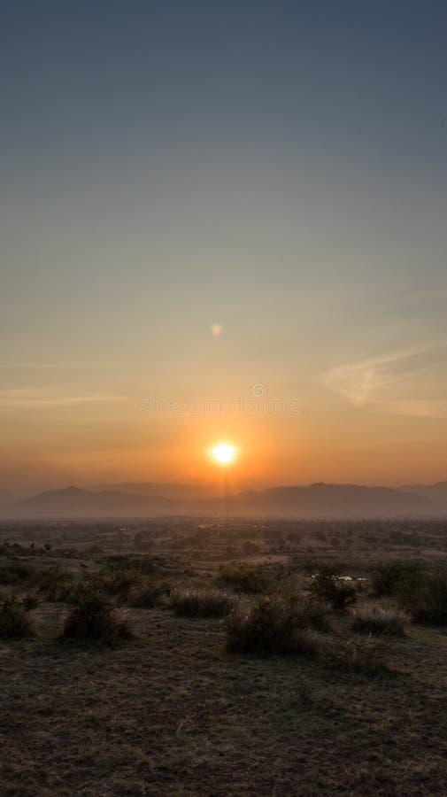 Por do sol de Zapotec imagem de stock royalty free