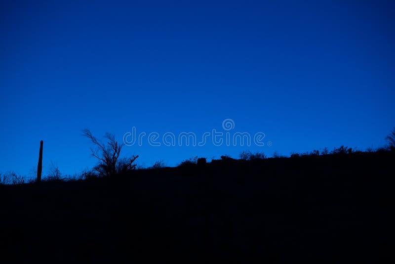 Por do sol do deserto de Sonoran imagem de stock