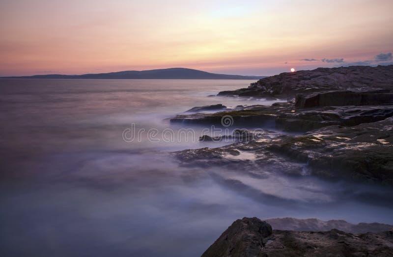 Por do sol do Acadia foto de stock royalty free