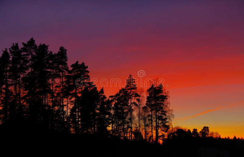 Por do sol do arco-íris foto de stock royalty free