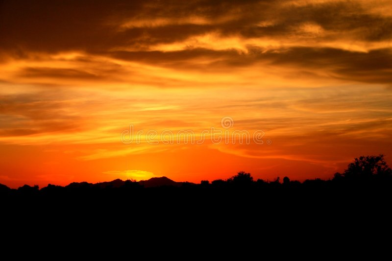 Por do sol do Arizona fotografia de stock royalty free