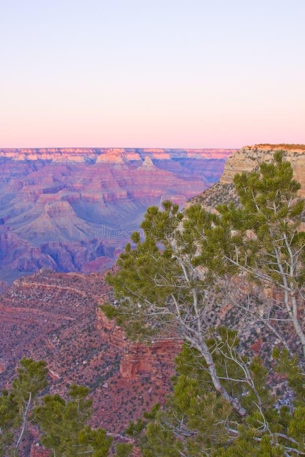 Por do sol do Arizona da garganta grande imagem de stock royalty free