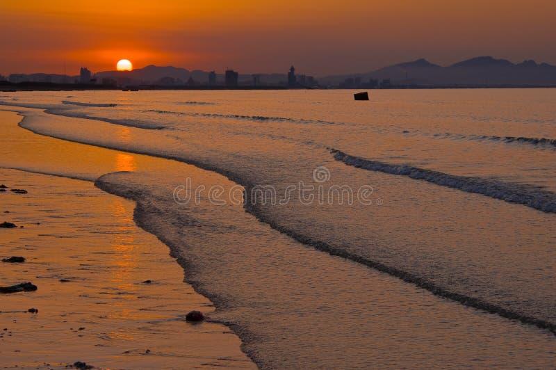 Por do sol do beira-mar foto de stock royalty free
