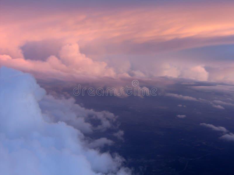 Por do sol do céu foto de stock