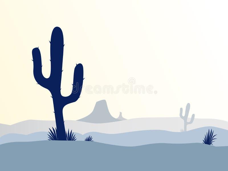 Por do sol do deserto do cacto