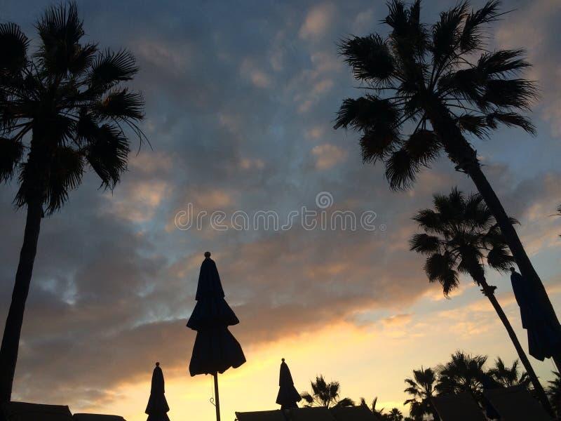 Por do sol do Huntington Beach foto de stock royalty free
