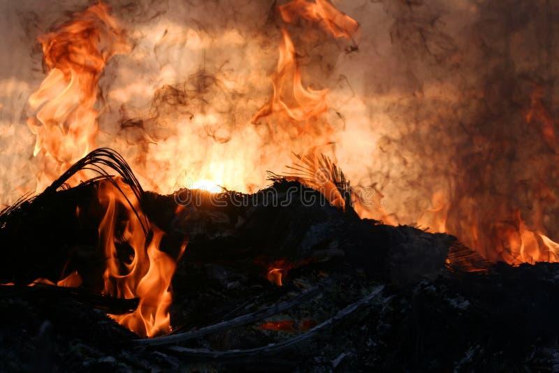 Por do sol do inferno imagens de stock royalty free
