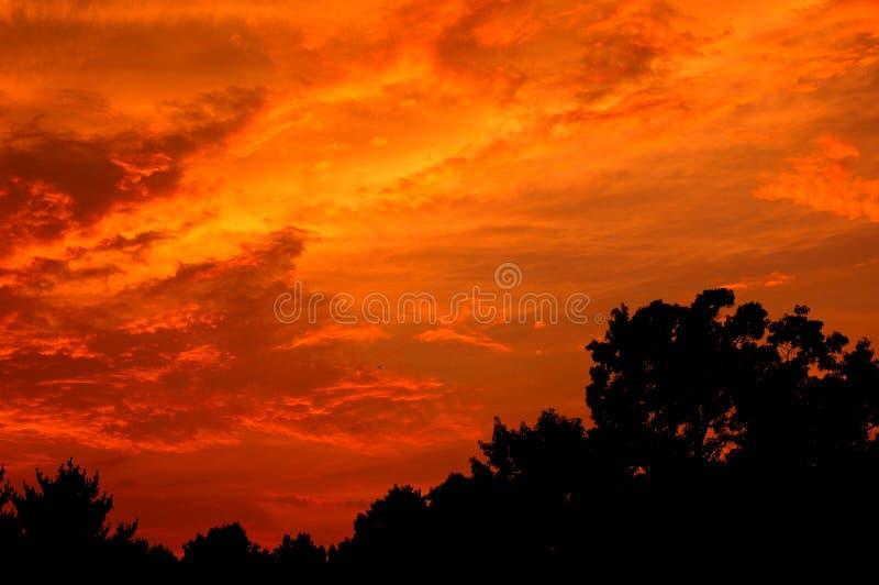 Por do sol do leste de Tennessee fotos de stock