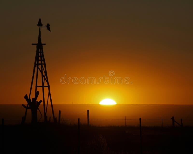 Por do sol do país imagens de stock