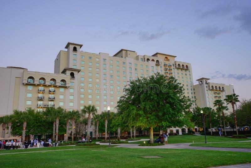 Por do sol do recurso de Florida imagens de stock royalty free
