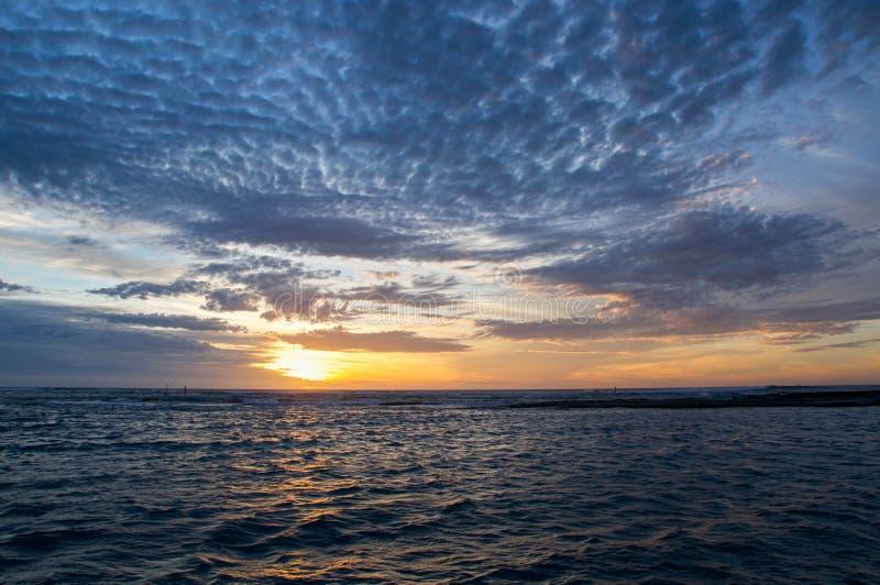 Por do sol do rio de Murchison imagem de stock