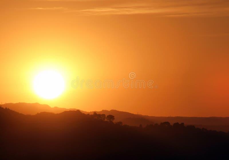 Por do sol do sul de Califórnia foto de stock