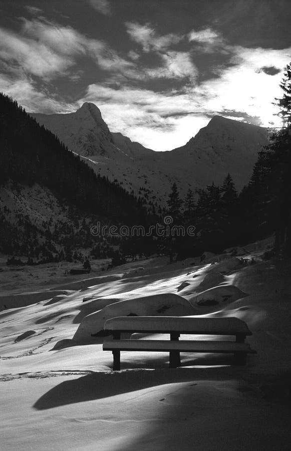 Por do sol do vale da égua de Sambata imagem de stock