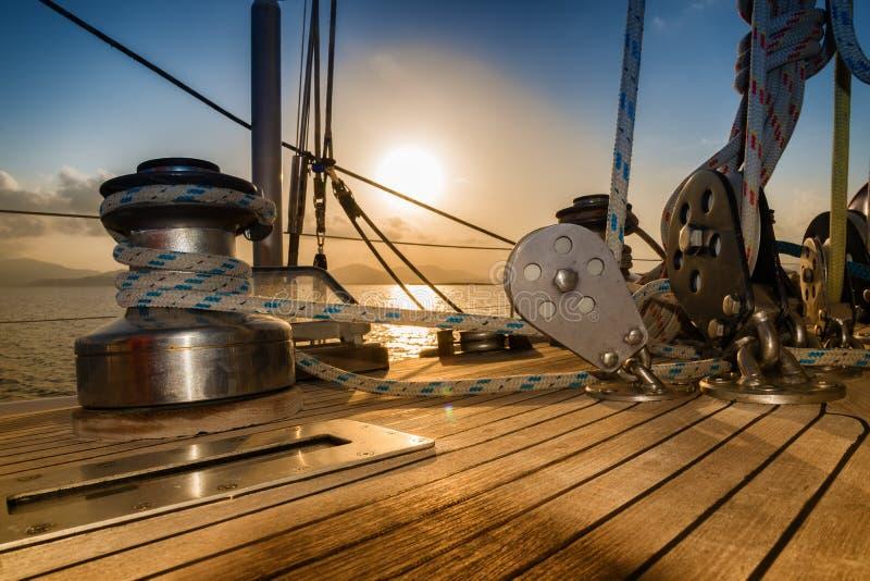Por do sol do veleiro