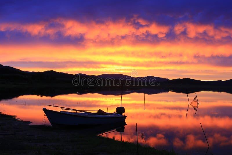 Por do sol do verão fotografia de stock royalty free