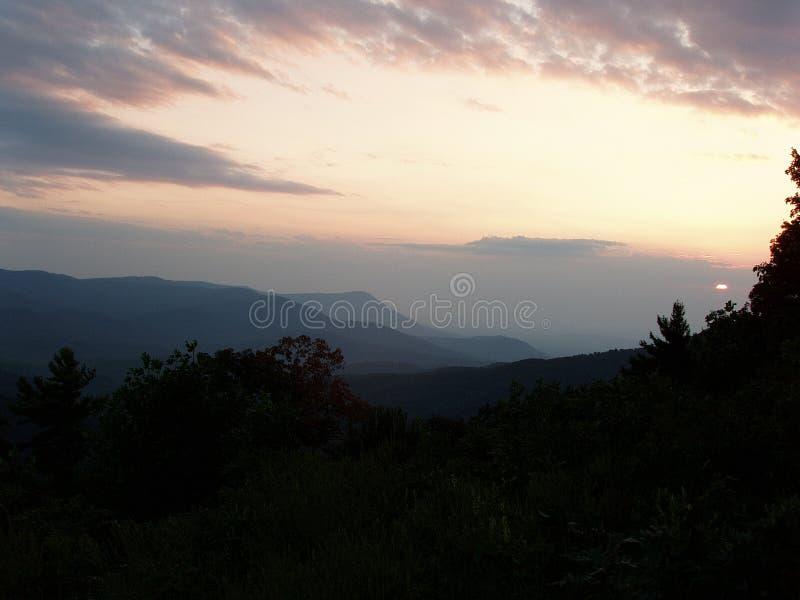 Por do sol do wildreness de Cohutta foto de stock royalty free