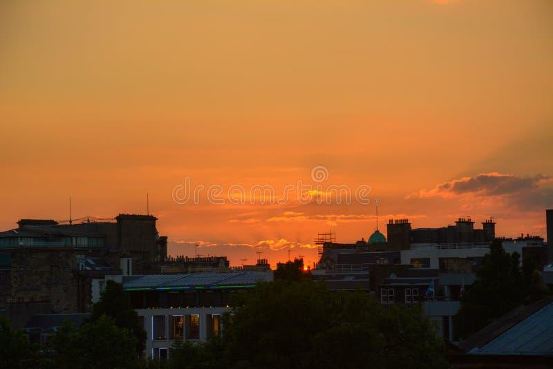 Por do sol, Edimburgo imagens de stock royalty free