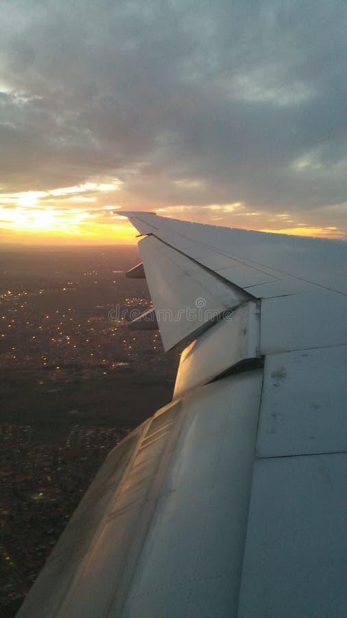 Por do sol em África do Sul de América imagens de stock