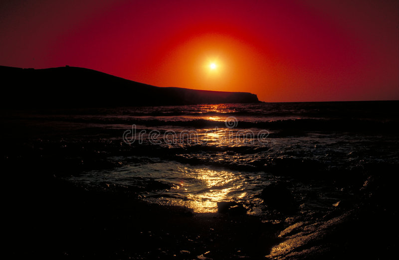 Por do sol em Antiparos foto de stock royalty free