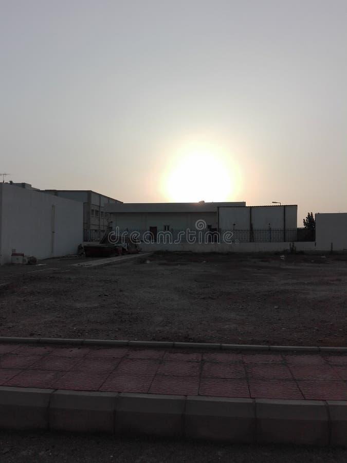 por do sol em Arábia Saudita imagens de stock