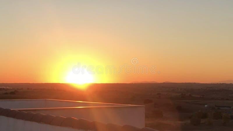 por do sol em Arroyomolinos imagem de stock