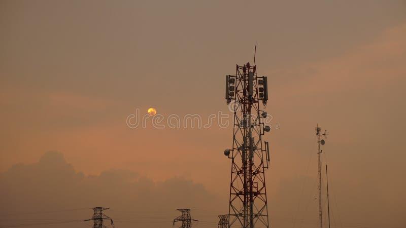 Por do sol em Bintaro imagens de stock royalty free
