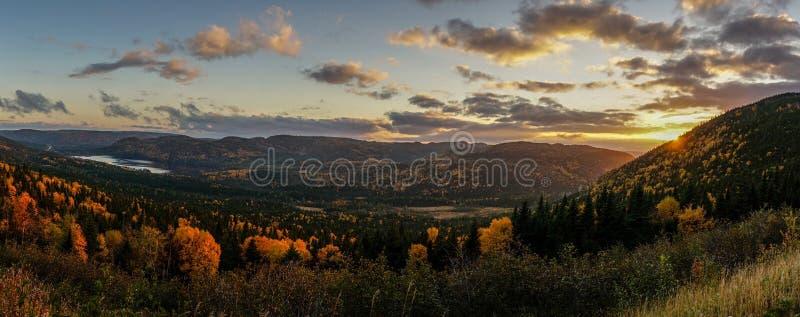 Por do sol em Canadá do leste fotos de stock
