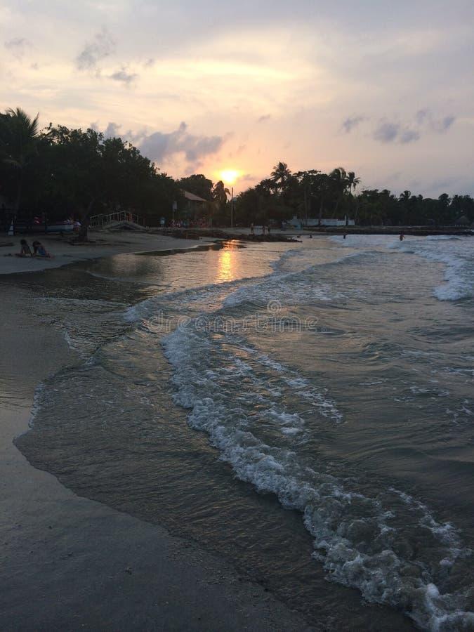 Por do sol em Cartagena imagens de stock royalty free