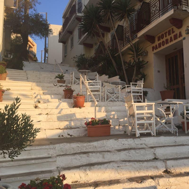 Por do sol em Crete fotos de stock