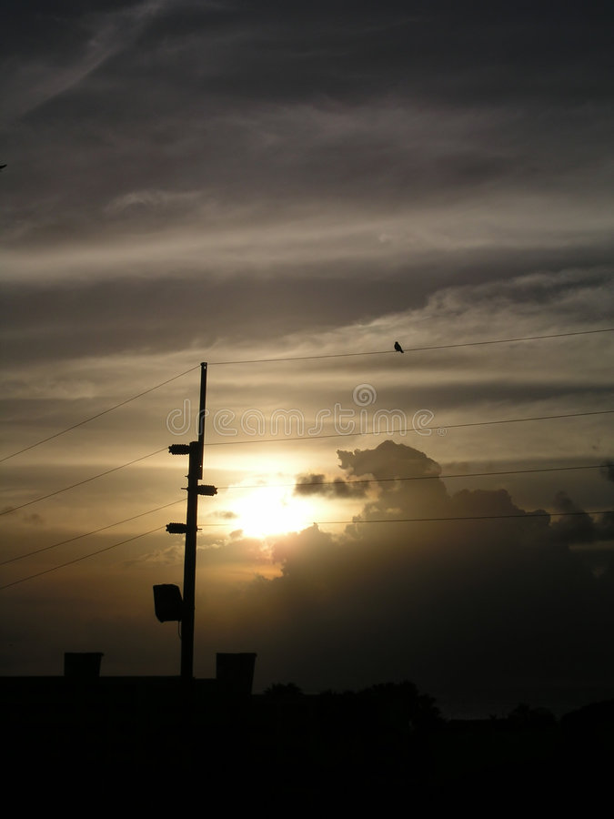 Por Do Sol Em Curaçao Imagens de Stock